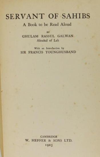 Servant of Sahibs