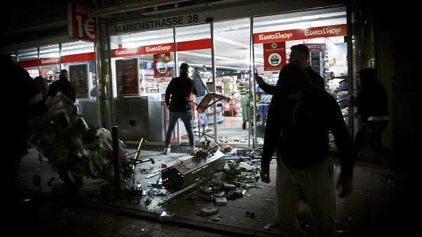 vandalism, Germany, Stuttgart city, police attacks, drug check