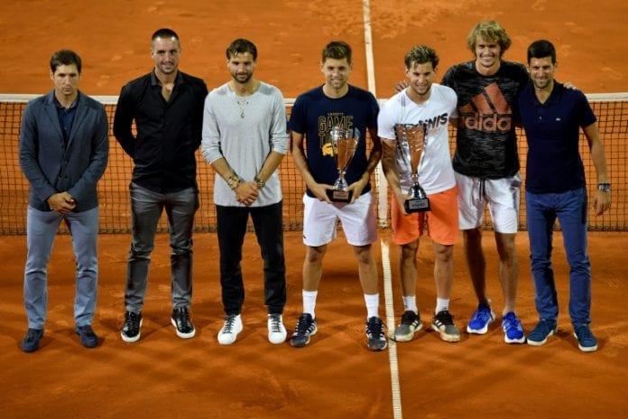 Grigor Dimitrov, Borna Coric, Novak Djokovic, coronavirus, COVID-19