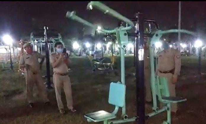 open gym equipment, Jhansi, Uttar Pradesh, ghost, viral video, Jhansi Police