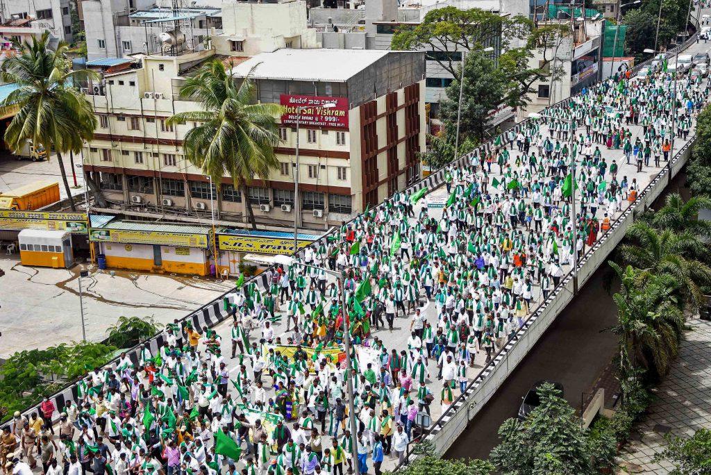 Farmers protest in Karnataka
