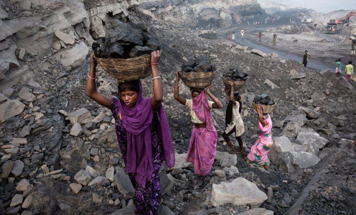 Coal mining, miners