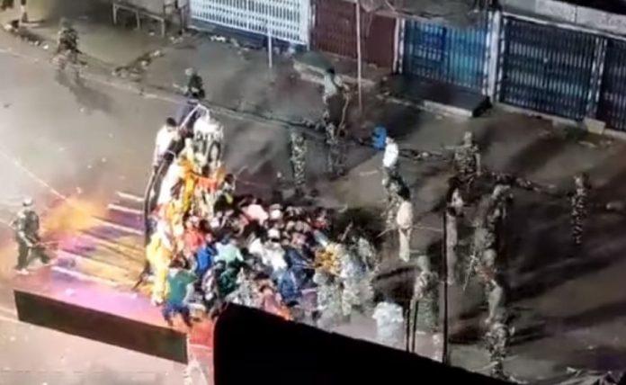 Durga immersion clash