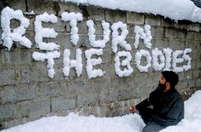 Kashmir, return bodies, militants, encounter