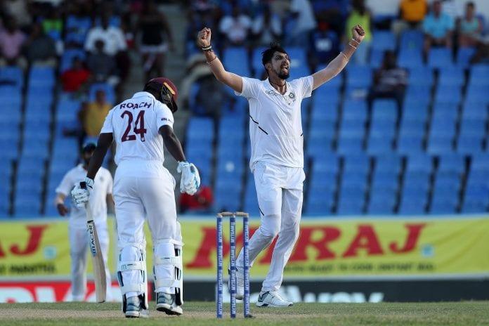 Ishant Sharma, India, West Indies, India tour of West Indies, Cricket, Ravindra Jadeja, Ravichandran Ashwin, Sir Vivian Richards Stadium,
