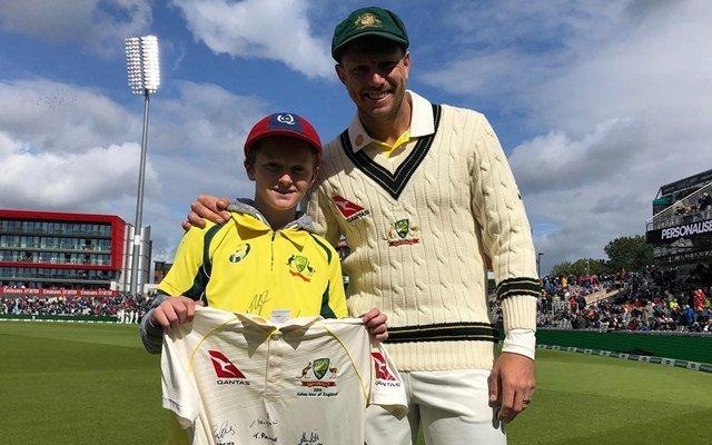 12-year-old boy, Ashes series, Ashes test, England, Australia, Max Waight, Steve Smith, James Pattison