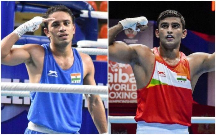 Amit Panghal, Manish Kaushik, World boxing Championship, two medals, Andy Gomez Cruz, Carlo Paalam, Saken Bibossinov, Wanderson de Oliveira