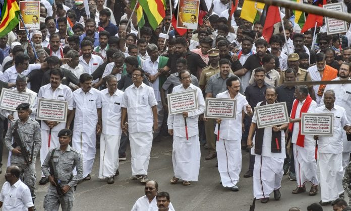 DMK rally, anti-CAA protest, protest rally in Chennai