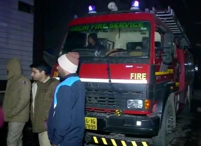 delhi, kirari area, fire, residential building, godown, nine killed, 3 children, Delhi Fire Service, cylinder blast, fire safety equipment, Anaj Mandi fire