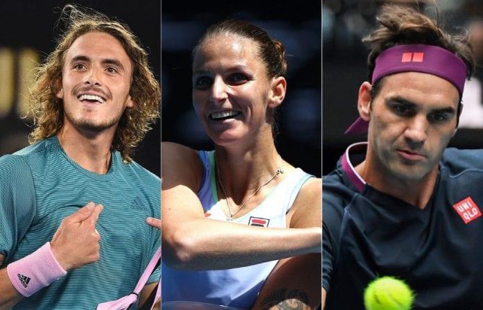 Australian Open, Stefanos Tsitsipas, Karolina Pliskova, Roger Federer, Serena Williams, Naomi Osaka, third round, Rod Laver Arena