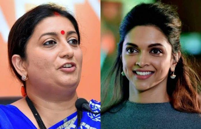Deepika Padukone, Smriti Irani, Amitabh Bachchan, JNU violence, JNU attack, Bollywood, JNUSU, JNU campus violence