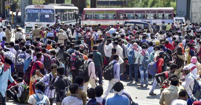 Migrants workers Movement Gujarat UP
