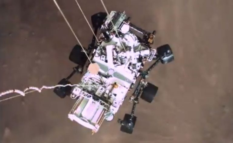 Watch: NASA's first video of rover landing, audio from Mars